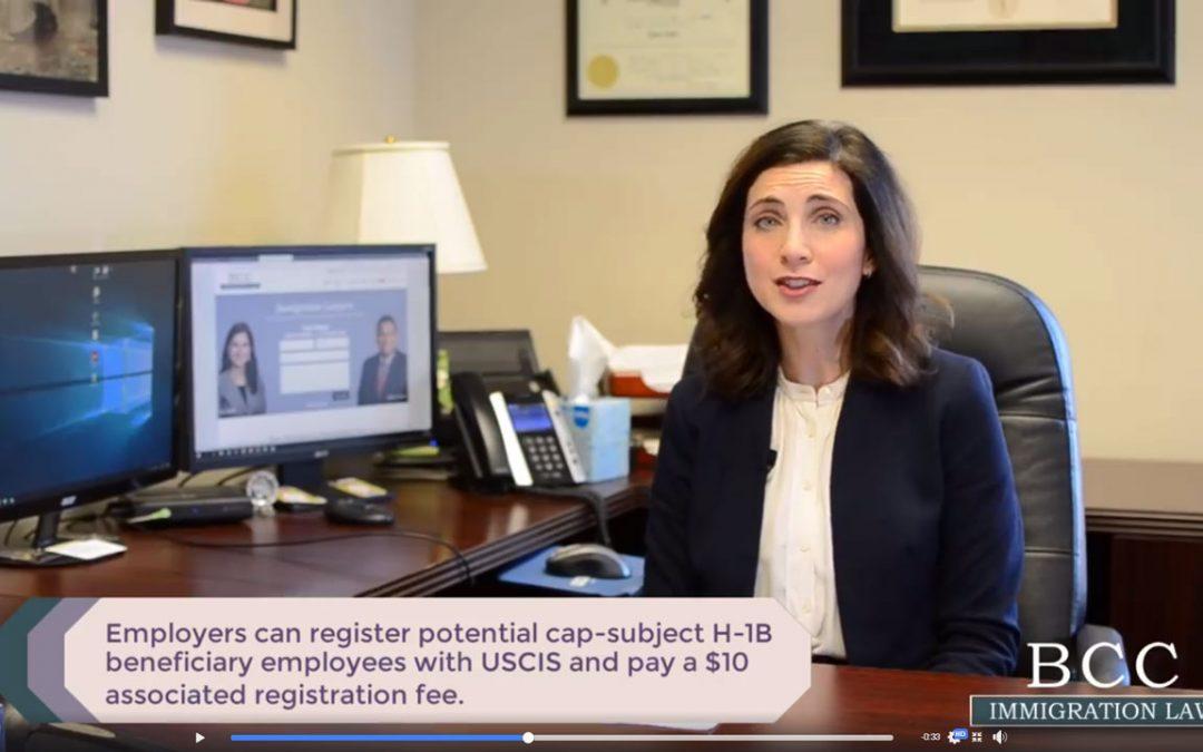 Change in H-1B cap-subject work visa application procedure
