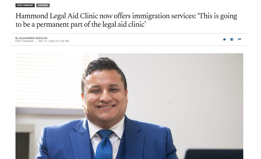 Attorney Estrada Featured in News about Immigration at Hammond Legal Aid Clinic