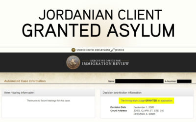 Asylum Granted to Estrada's Jordanian Client