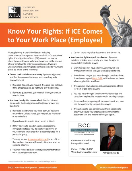 What If ICE Comes To Your Work Place?